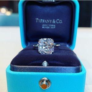 5.62Ct 925 Sterling Silver Princess Cut Ring